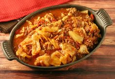 Unstuffed Cabbage Roll Casserole #SundaySupper - Yours and Mine ARE Ours