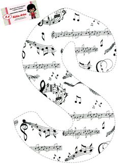 💝 Rylee loves to sing 💝 Alphabet Letter Templates, Letter Symbols, Alphabet And Numbers, Music Clipart, Summer Words, Abc Coloring Pages, Music Themed Parties, Typo Logo, Music Education