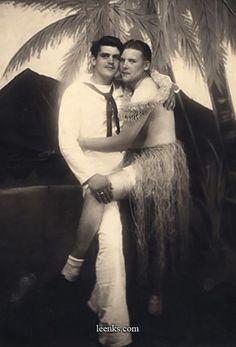 hula girl and sailor