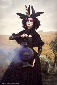 Lunaesque Creative Fantasy Photography Victorian Gothic Fairy Witch - Purple… by Gloria Garcia