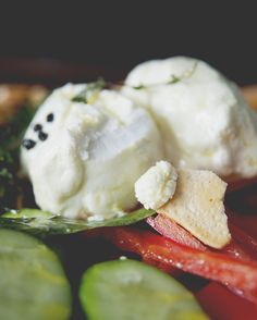 HERB MARINATED GOAT CHEESE WITH CRUDITE AND PITA CHIPS // The Kitchy Kitchen