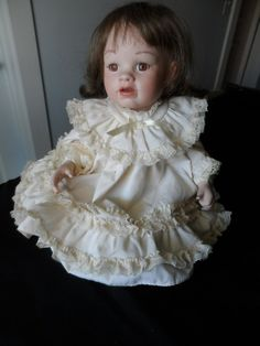 Reproducción de 1987 Vintage botas Tyner diseño porcelana muñeca duraznos porcelana muñeca coleccionista 1157
