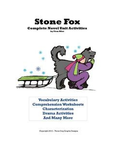 This is a complete bundle (31 pages in all) of worksheet activities for the novel Stone Fox written by John Reynolds Gardiner. The unit incl...