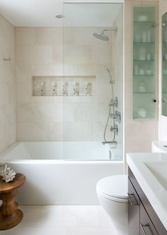 Clean contemporary bathroom space - has been added to over 115, 000 idea books on Houzz!