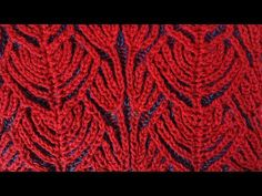 """Hearts"" two-color brioche stitch pattern + free embedded chart - YouTube"