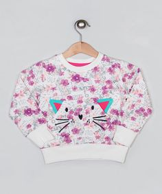 Another great find on #zulily! Cream Cat Ears Sweatshirt - Infant, Toddler & Girls by Cigit Kids #zulilyfinds
