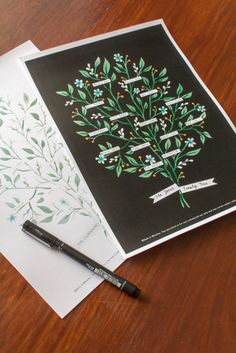 A family tree printable, designed by Bells & Whistles, perfect to brighten up your living space. Just print, crop and fill in your family names in the spaces provided - it's the ideal activity to do with the kids on a weekend or during the holidays!  See more here.