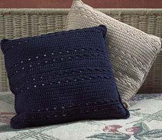 "FREE PTRN: CROCHET 'Decorative Pillow'. Yarn: Coats & Clark Knit-Cro-Sheen Crochet Cotton. SIZE:  14"" x 14"" sq."
