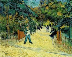 Vincent van Gogh — Entrance to the Public Garden in Arles, 1888,...