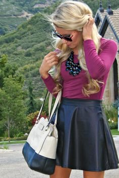 Maroon & Leather, fall fashion www.lovelylittlestyle.com
