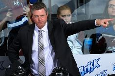 Colorado Avalanche head coach Patrick Roy - Roy Whoooo !  Love this guy pure talent.