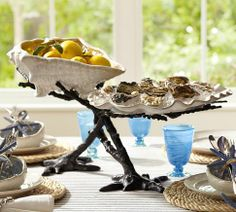Coral Serve Bowl Stand | Pottery Barn