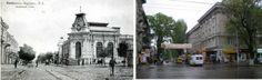 Аптека Паутынского в начале XX века и то же самое место в 2009 году.