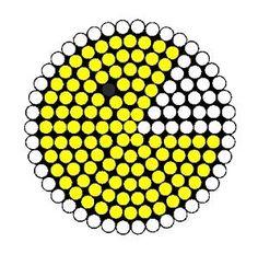 Pacman Fuse Bead Perler Bead Pattern | Bead Sprites | Characters Fuse Bead Patterns by clara