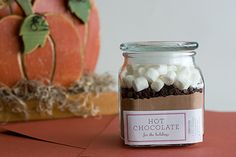 Hot cocoa mix + free printable link