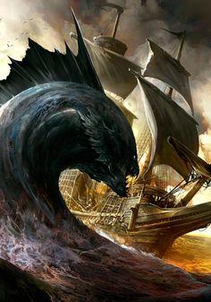 Giant Sea Snake by Kekai Kotaki
