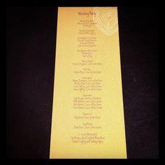 Amber & Kyle's Candlelit Mason Jar Tea-Length Wedding Programs! #LoveMSW