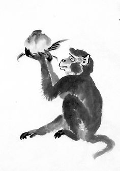 sumie monkey - Google Search