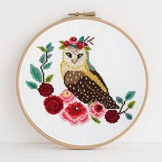 Thrilling Designing Your Own Cross Stitch Embroidery Patterns Ideas. Exhilarating Designing Your Own Cross Stitch Embroidery Patterns Ideas. Cross Stitch Owl, Cross Stitch Alphabet, Modern Cross Stitch, Cross Stitch Kits, Cross Stitch Designs, Cross Stitching, Cross Stitch Patterns, Learn Embroidery, Cross Stitch Embroidery