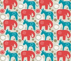 left and right fabric by ottomanbrim on Spoonflower