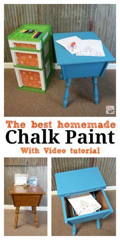 The Best Homemade Chalk Paint Recipe