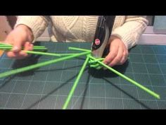 Kränze flechten aus Papier Röllchen (wie fange ich das an) - YouTube