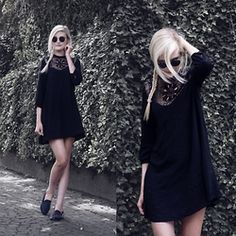 Faye S. - Sheinside Dress, Ray Ban Glasses, Unif Shoes - She wants to live her life