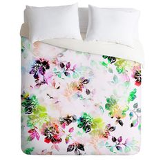 CayenaBlanca Romantic Flowers Duvet Cover
