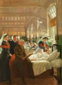 Care of Wounded Soldiers at Cardiff Royal Infirmary during the Great War  Margaret Lindsay Williams (1888–1960)  Cardiff Royal Infirmary