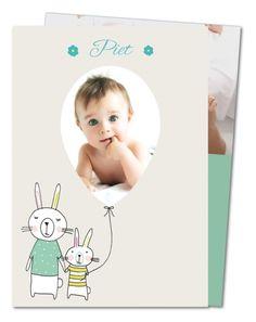 Geburtskarte Kaninchenfamilie (PRV-527)