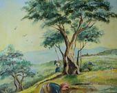 """""""Vita di campagna"""" - Dipinto olio su tela : Dipinti di artstudioidea"""