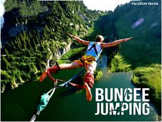 The extreme sport bungee jumping is very young sport in India and yet to get popular in the country. Feel the fun along with thrill of Bungee Jumping on mountains. The bungee jump is an absolute essential — the where is up to you. So if you are still thinking about bungee jumping, don't think anymore. Just take the leap! You won't regret it! #HillstationHookup #BungeeJumping #VacationTravel