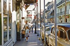 Old Photo: Royal Street, New Orleans French Quarter in 1956 Iconic Photos, Old Photos, Vintage Photos, Shorpy Historical Photos, New Orleans French Quarter, Dere, Bourbon Street, Crescent City, Rhythm And Blues