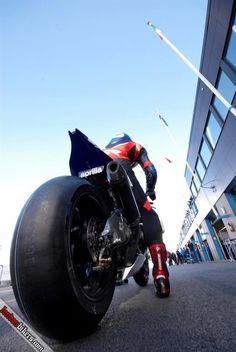 Slicks. Went to Assen once. Some bloke came up to me and said, put some slicks…