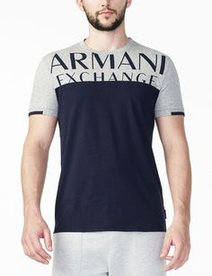 Shop for PRINTED YOKE LOGO TEE & discover our other Logo Tee for Men. Find more designer clothes & accessories at armaniexchange.com