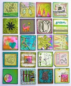 Oodles of Colorful Inchies & Rinchies