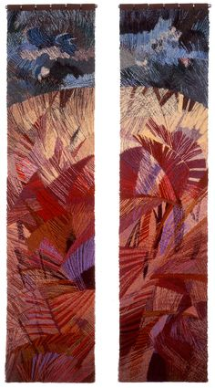 pair of hangings fro West Central Synagogue, London 1997 Embroidery Art, Machine Embroidery, Victoria And Albert Museum, Textile Artists, Fabric Art, Art Inspo, Fiber Art, Diana, Personal Investigation