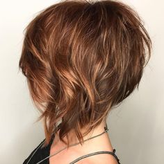 A-Line Amber Bob Wispy Layered Angled Bob With Highlights Related Best New Pixie And Bob Haircuts for Women 2019 - Pixie Hairstyle - Page 12 Impressive Short Bob Hairstyles To TryWe thought you might like these 18 pins. Inverted Bob Haircuts, Bob Haircuts For Women, Haircuts For Fine Hair, Short Haircuts, Tween Girl Haircuts, Medium Hair Styles, Curly Hair Styles, Natural Hair Styles, Medium Curly