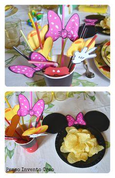 #decorare la tavola Organizzare una #Festa di Compleanno per #bambini a tema Topolino- Mickey Mouse #minnie