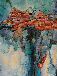 """For Sale: Boulders II by Alicia Marie Short   $250   18""""w 24""""h   Original Art   https://www.vangoart.co/buy/art/boulders-ii--2 @VangoArt"""
