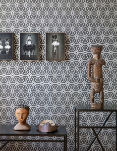 Grey geometric wallpaper by Walls Republic