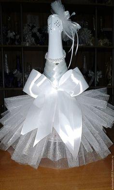 """Купить """"Невеста"""" - белый, свадьба, невеста, фатин, атласная лента, жемчуг искусственный"""