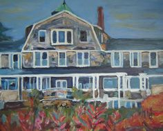 Black Point Inn Painting by Karen Watson Johnson