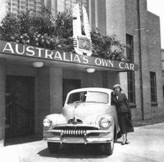 November 1948 and the first Holden rolls off the Fisherman's Bend line. A day that would live in infamy for Aussie Holden fans. Royal Australian Navy, Australian Cars, Holden Australia, Victoria Australia, Car Posters, Back In The Day, The One, Gto, Historical Photos