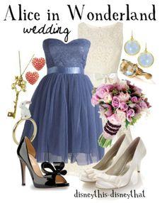 Disney Alice in Wonderland (wedding) Disney Dresses, Disney Outfits, Homecoming Dresses, Bridesmaid Dresses, Party Dresses, Wedding Dresses, Lizzie Hearts, Disney Inspired Fashion, Disney Fashion