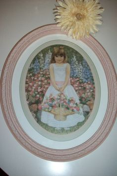 Vintage Homco Jessica's Flowers, girls room, Valentine's gift for her, Pink Oval Framed Picture, Cottage Chic Floral Wall Hanging Cottage Style Decor, Shabby Chic Cottage, Vintage Wall Art, Vintage Paper, Vintage Decor, Home Interiors And Gifts, Valentines Gifts For Her, Oval Frame, Floral Wall