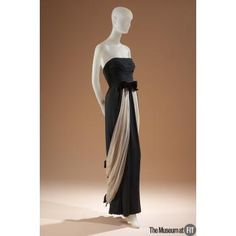 "Irene evening dress, c.1950, USA, Gift of The Fashion Group. Collection of The Museum at FIT #TurnofStyle / Irene Lentz was a legendary Hollywood costume designer. She made clothing for over fifty films, but movie stars wore her glamorous creations off-screen as well. The Los Angeles Times referred to Irene as ""California's couturier."""