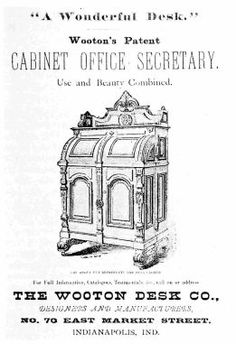 ADVERTISEMENT from Indianapolis City Directory,  1876. (Photograph from the Library of Congress.)