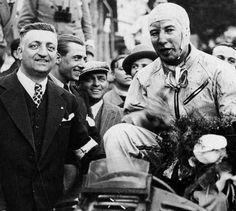 GP Monaco 1934 , Enzo Ferrari (Manager Scuderia Ferrari) with Winner Guy Moll