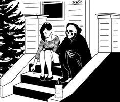 Life as a Photographer Arte Dope, Dark Art Drawings, Skeleton Art, Arte Horror, Skull Art, Art Inspo, Line Art, Art Sketches, Creepy
